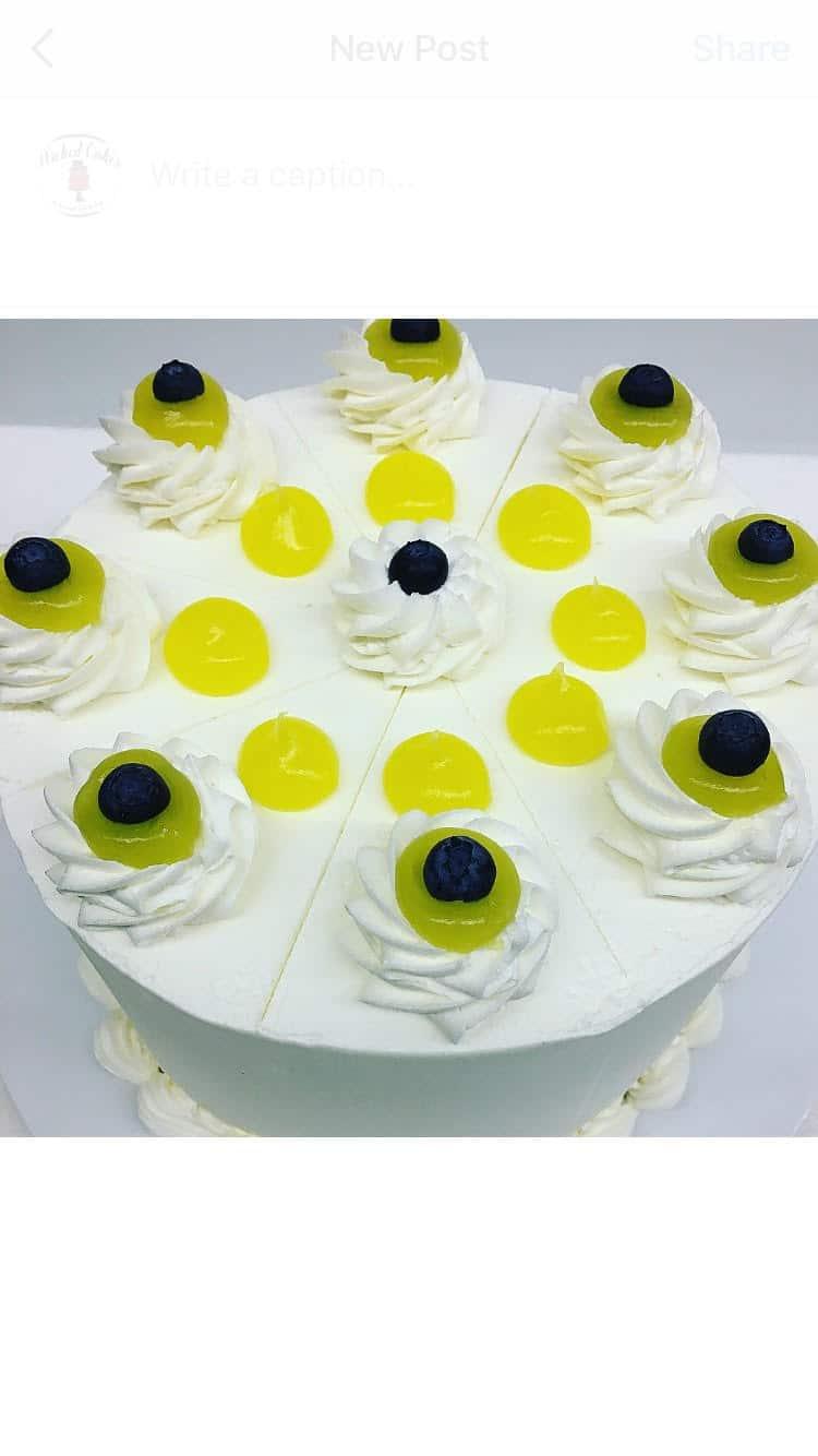 Lemon Blueberry Cake - Wicked Cakes of Savannah