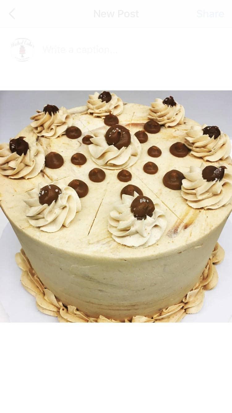 Marvelous Salted Caramel Cake Wicked Cakes Of Savannah Funny Birthday Cards Online Necthendildamsfinfo